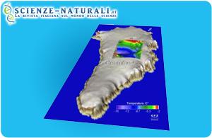 La calotta di ghiaccio della Groenlandia fonde alla base