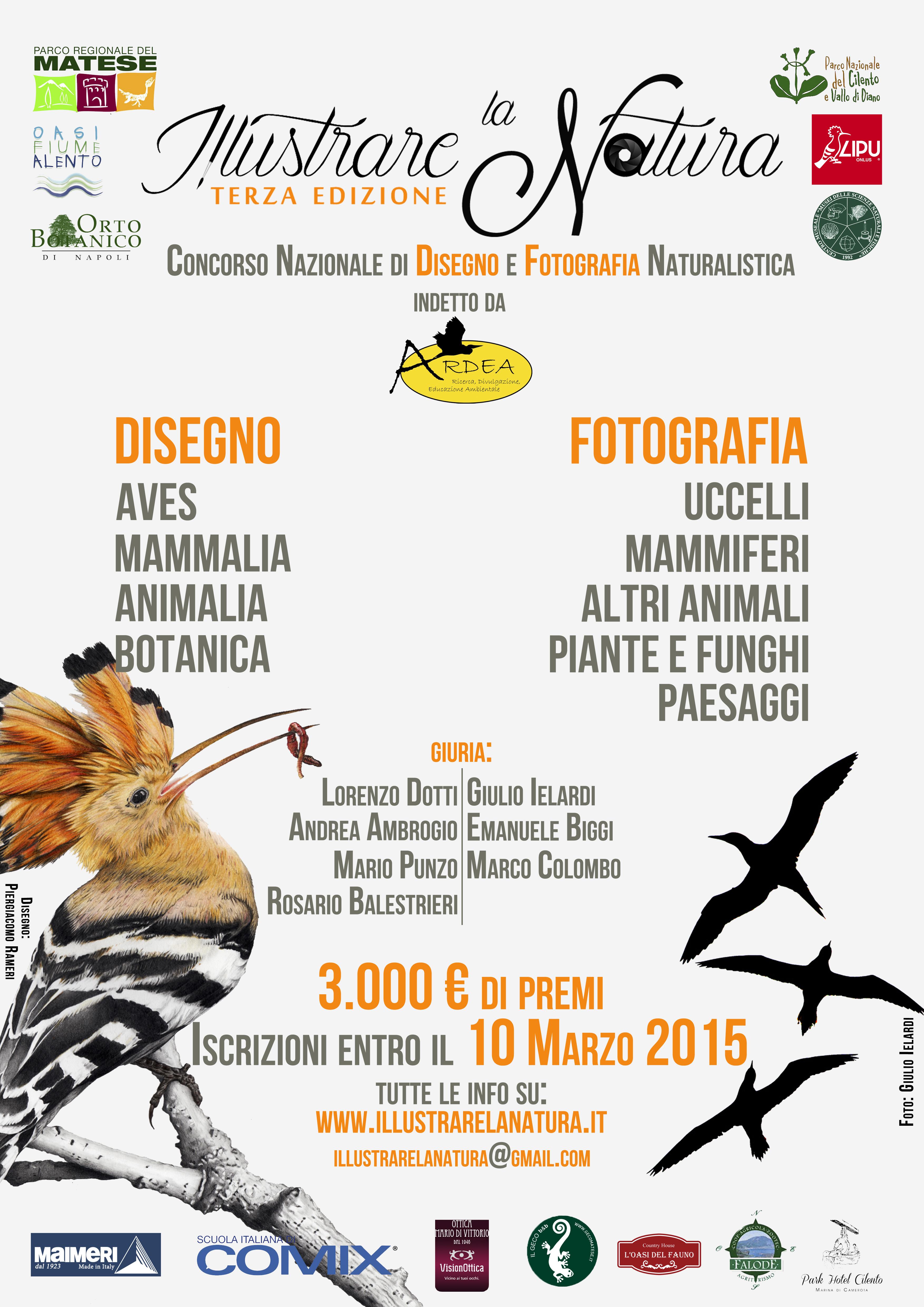 Concorso Nazionale di Disegno e Fotografia Naturalistica: Illustrare la Natura III