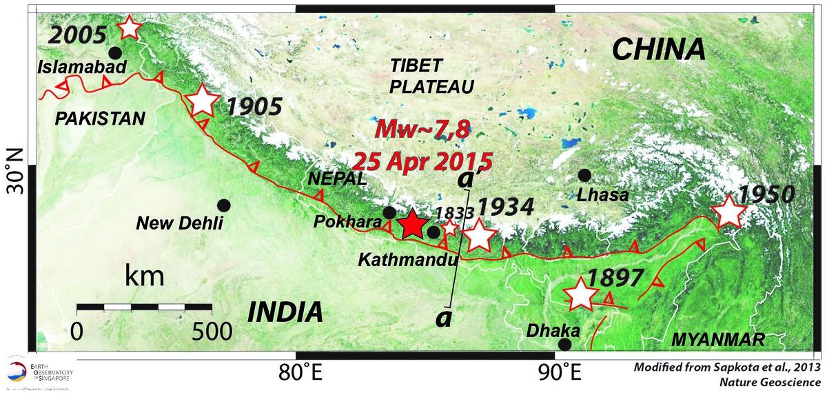 Il terremoto del 25 aprile 2015 in Nepal